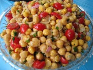 Chickpea Tomato Salad