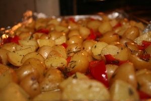2-Roasted-Baby-Potatoes-Red-Peppers-Fifteen-Minutes