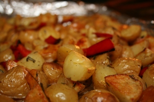 3-Roasted-Baby-Potatoes-Red-Peppers-Half-Hour