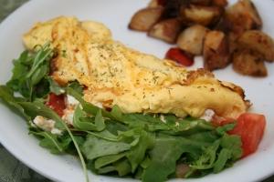 Tomato Arugula Feta Omelette - Digifood Blog