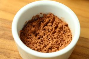 Unsweetend cocoa powder.